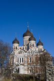 Aleksandr Nevsky russian orthodox cathedral in Tallinn Royalty Free Stock Image