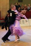 Aleksandra Fron and Kamil Kedra - standard dancing Royalty Free Stock Photos