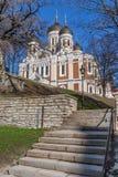Aleksandra Nevsky prawosławna katedra w Tallinn zdjęcia royalty free