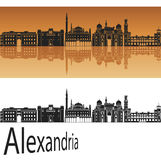 Aleksandria linia horyzontu Zdjęcie Royalty Free