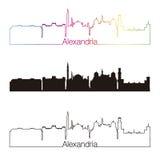 Aleksandria linii horyzontu liniowy styl z tęczą Fotografia Royalty Free