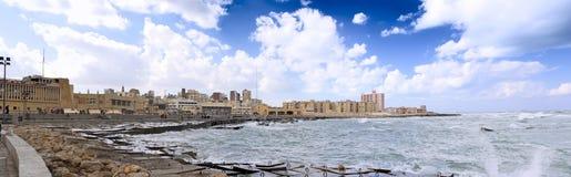 Aleksandria, nadbrzeże. Egipt Obraz Royalty Free