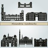 Aleksandria punkty zwrotni Fotografia Stock