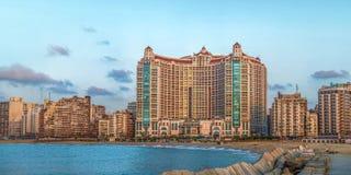 Aleksandria San Stefano linia horyzontu Zdjęcia Royalty Free