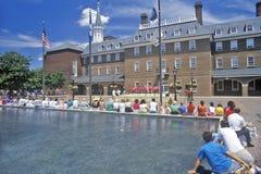 Aleksandria urząd miasta i Targowy kwadrat w Starym Grodzkim Aleksandria, Aleksandria, Waszyngton, DC Fotografia Royalty Free