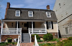 Aleksandria, VA: 1724 Ramsay dom Zdjęcia Stock