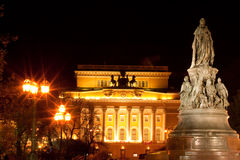 aleksandrinsky monum Petersburg st theatre Obraz Stock