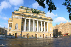 Aleksandrinsky Theatre. Saint-Petersburg. Aleksandrinsky Theatre Royalty Free Stock Photography
