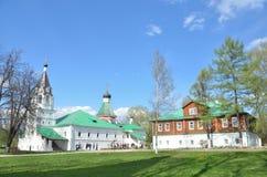 Aleksandrovskaya Sloboda,弗拉基米尔地区,俄罗斯的金黄圆环 免版税库存图片