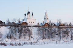 Aleksandrovsky Kloster. Suzdal. Stockbilder