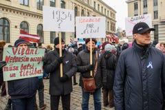 Aleksandrs Bartasevics R Mayor of Rezekne. Support` meeting, expressing support for Nils Usakovs, Mayor of Riga city council, royalty free stock images