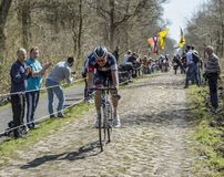 Aleksejs Saramotins in The Forest of Arenberg- Paris Roubaix 201 Royalty Free Stock Image