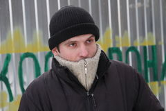 Aleksey Rassolov, an activist of the Khimki forest Defenders. Khimki, Russia - February 1, 2012. Aleksey Rassolov an activist of the Khimki forest Defenders Stock Photos