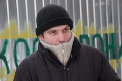 Aleksey Rassolov, um ativista dos defensores da floresta de Khimki Fotos de Stock