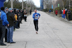 Aleksey Shelest at the 20,000 meters race walk Royalty Free Stock Images
