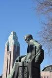 Aleksis Kivi statue, Helsinki Royalty Free Stock Images
