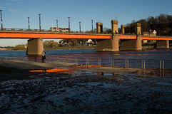 Aleksoto-Brücke Lizenzfreie Stockbilder