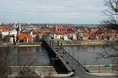 Aleksoto-Brücke Stockfotografie