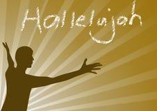 Aleluia jesus ilustração stock