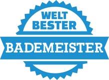 Alemán acompañante de la mejor piscina del ` s del mundo libre illustration