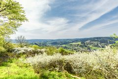Alemán Eifel del paisaje imagen de archivo