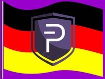 Alemán Pivians que apoya Pivx foto de archivo libre de regalías