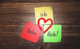 Alemão eu te amo Foto de Stock