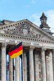 Alemão Reichstag em Berlim, Alemanha Fotografia de Stock