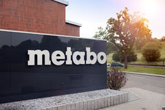 ALEMANHA - 30 de maio de 2012: Planta de Metabo no Nurtingen em Alemanha do sul Foto de Stock Royalty Free