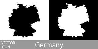 Alemanha detalhou o mapa ilustração stock