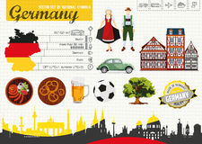 Alemanha do guia do curso Imagens de Stock Royalty Free