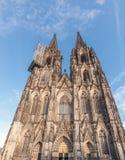 Alemanha, água de Colônia, a catedral famosa Imagem de Stock