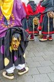 Alemanha, Lahr - 17 de janeiro: Os participantes nos trajes executam um s Fotografia de Stock Royalty Free