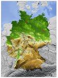 Alemanha, mapa de relevo Ilustração Royalty Free