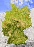 Alemanha, mapa de relevo Ilustração do Vetor