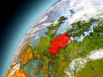 Alemania de la órbita de Earth modelo Fotografía de archivo libre de regalías