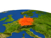 Alemania en rojo de la órbita ilustración del vector