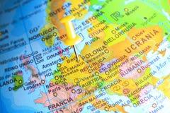 Alemania fijó en un mapa de Europa Imágenes de archivo libres de regalías