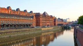 Alemania, Hamburgo, canal de las aduanas Imagenes de archivo
