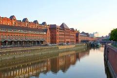Alemania, Hamburgo, canal de las aduanas Fotos de archivo