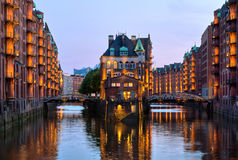 Alemania, Hamburgo, ciudad de almacenes fotos de archivo