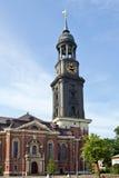 Alemania, Hamburgo, Miguel, ` s de San Miguel de la iglesia Imagen de archivo libre de regalías