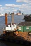 Alemania, Hamburgo, río Elba Fotos de archivo