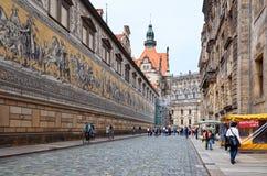 alemania La procesión del ` del panel del ` de los príncipes en Dresden 16 de junio de 2016 imagen de archivo libre de regalías