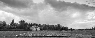 Alemania, Oranienburg, vista del campo de concentración de Oranienburg, el 29 de agosto de 2015 Foto de archivo