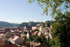 Alemania, paisaje urbano de Meissen fotografía de archivo
