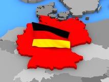 Alemania que se coloca fuera de mapa Imagen de archivo libre de regalías