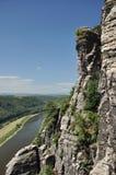 Alemania, río Elbe, PA nacional sajón de Suiza imágenes de archivo libres de regalías