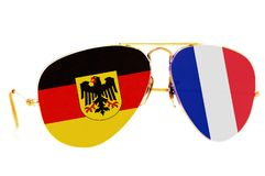 Alemania y Francia Imagen de archivo