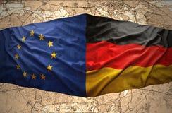 Alemania y unión europea stock de ilustración